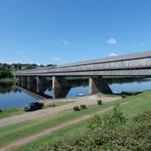 The longest covered bridge in the world in Hartland