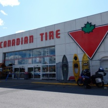 Buying chain oil at Canadian Tire