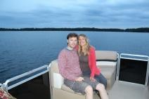 Cruising the lake on bob's pontoon boat.
