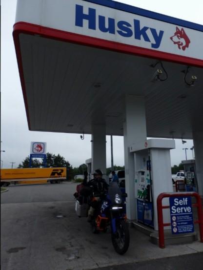 Husky petrol station