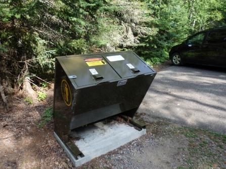 Bear protected rubbish bins