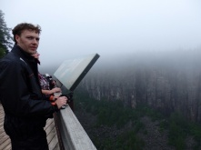 Lookout point at Ouimet Canyon