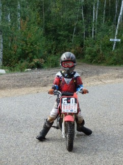 Reed on his dirtbike