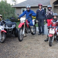 Jacob, Neil, Shawn, Riley and Reed before dirtbiking