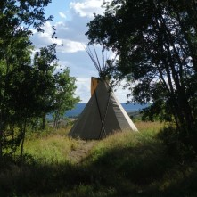 Tipi at the farm