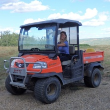 Franziska's first Kubota ride
