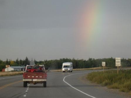 Brad driving ahead of us to Reno