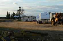 Our temporary home on the Reno grass farm