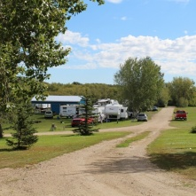 These are family reunion campground areas. They're dotted around Canada for extended families to come and meet up at