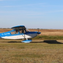 Neil returning from his aerobatic flight