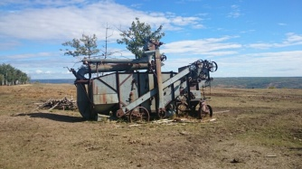 An old piece of farm machinery
