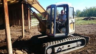 Brad in his excavator
