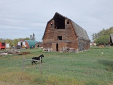 Old wooden farm building - about 80 years old