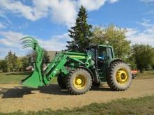 Franziska on the green tractor