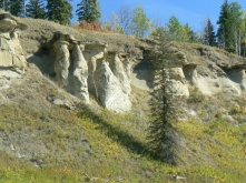 Rock formations along the river