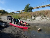 The start of our kayak and canoe trip