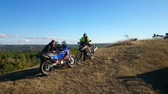 Neil and Brad after an offroad ride through the hills.