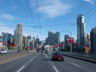 Entering Vancouver after driving from Clearwater