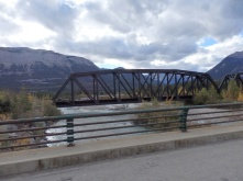 A railway bridge on the Yellowhead highway