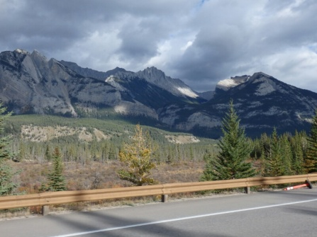 The rockies from the Yellowhead highway