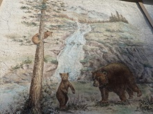A painting in our hotel in Jasper