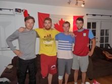 The Lucan ambassadors in Vancouver. Ger, Kilian and Dan. Ger does actually have two legs