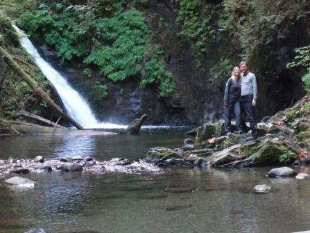 Goldstream waterfall on Vancouver island