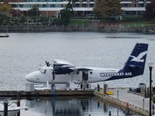 Sea plane is a common mode of transport on Vancouver island