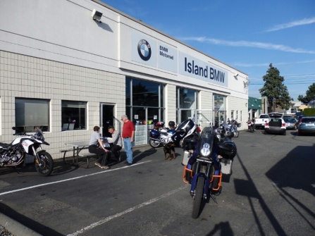 Talking to the BMW dealer in Victoria, he saw the bike parked across the road and told us to come over for a chat when we were finished