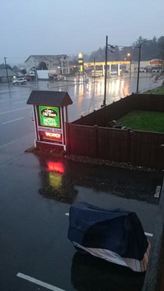 The last rainy day we had in Oregon