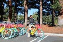 We stopped at Google to give their free bikes a spin