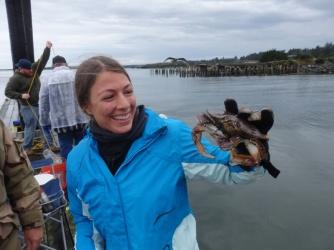 One of the crabs Franziska would later eat in Bandon Oregon