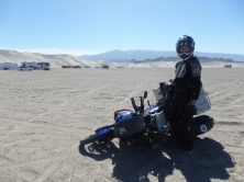 Bike drop near the dunes