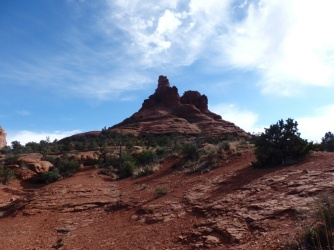 Hiking up Bell Rock Sedona Arizona