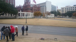 X marks the spot where JFK was hit