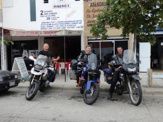 Glen, Neil, Dave before having lunch in Mazatlan