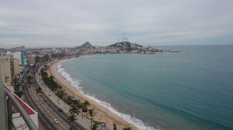 Beach in Mazatlan, view from Glen's place
