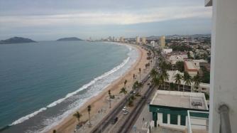 Beach in Mazatlan, view from Glen's place
