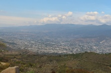 Oaxaca city from Mt Alban