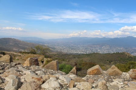Oaxaca city from Mt Alban