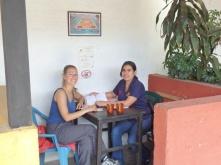 Franziska and her Spanish teacher Elbia