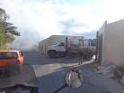 Trucks dumping rubbish near the Guatemalan border