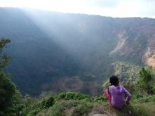 San Salvador vulcano crater
