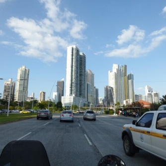 Riding into Panama City