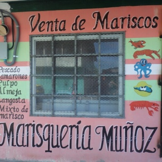 A sea food shop in Almirante