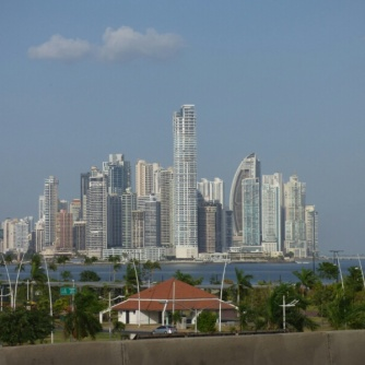 This is the image you'll find on postcards from Panama City