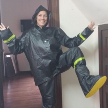 Colombian Police issue rain gear 14 Euro