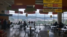 This is the view from the food court in the local mall in Manizales. Not bad.