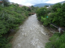 The river passing through San Gil
