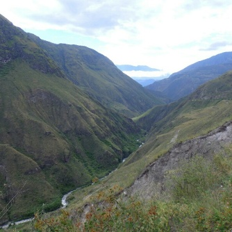 The road between Pasto and Ipiales